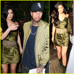 Kylie Jenner Continues Her Birthday Celebration With Tyga at Dinner Date