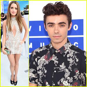 Laura Marano & Nathan Sykes Hit MTV VMAs 2016 with Jordan Fisher