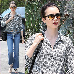 Lily Collins Channels Old Hollywood Before 'Rules Don't Apply' Promotions