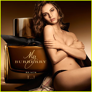 Lily James Fronts Burberry's New Frangrance Campaign!