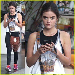 Lucy Hale Hits SoulCycle Class Before Ezria's Engagement on PLL