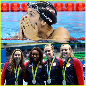 Swimmers Maya DiRado, Simone Manuel & Katie Ledecky Pick Up Silver Medals in Rio!