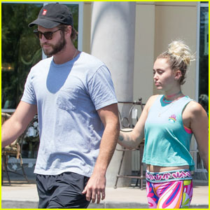 Miley Cyrus & Liam Hemsworth Couple Up For Lunch Date