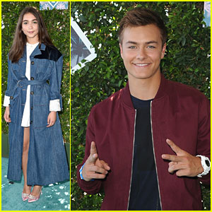 Rowan Blanchard Wears Cool Denim Over Dress at Teen Choice Awards 2016