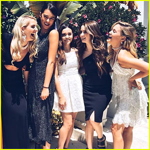 Rydel Lynch Hosts Laura Marano & Courtney Eaton For Old Hollywood Themed Tea Party