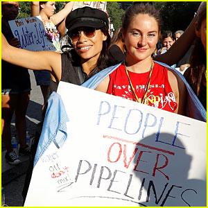 Shailene Woodley Speaks Out Against Dakota Access Pipeline!