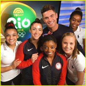 Simone Biles & Team USA Gymnasts Got to Meet Zac Efron in Rio!