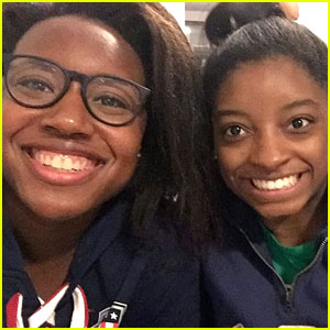 Olympic Gold Medalists Simone Biles & Simone Manuel Smile Wide for Fun Photo!