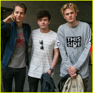 Watch The Vamps Spit Water All Over Each Other in This Funny Game!