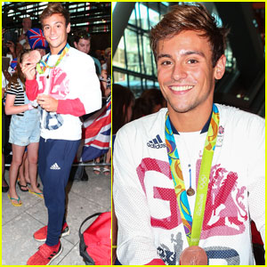 Tom Daley Arrives Back in London After Olympic Games