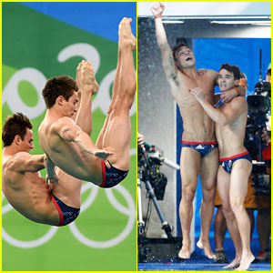 Tom Daley & Daniel Goodfellow Celebrate Bronze Medal at Olympics 2016!