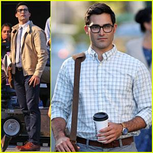 Tyler Hoechlin Dons His Clark Kent Costume on 'Supergirl' Set!