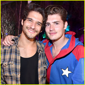Tyler Posey & Gregg Sulkin Meet Up for Midsummer Night Party!