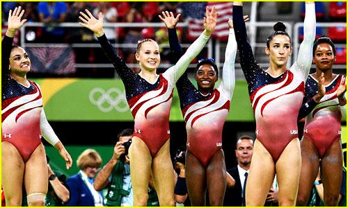 Simone Biles Leads USA Women's Gymnastics Team to All Around Gold Medal
