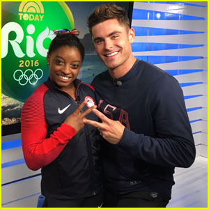 Zac Efron Says He Was Nervous to Meet Simone Biles & the Final Five