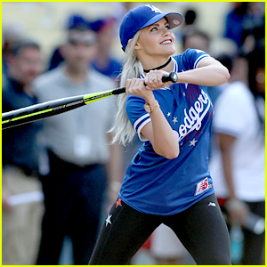 Witney Carson Dances with Jamie Foxx at Dodger Stadium