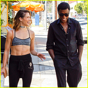 Allison Holker Shows Off Her Amazing Abs For DWTS Practice with Kenny 'Babyface' Edmonds