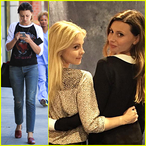Aly Michalka Takes Care of Business After DragonCon in Atlanta