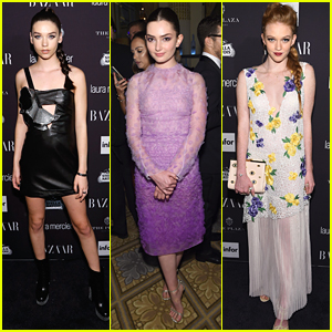 Amanda Steele Goes Edgy For Harper's Bazaar ICONS Event with Emily Robinson