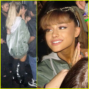Ariana Grande Stops By Kanye West Show With Kendall & Kylie Jenner