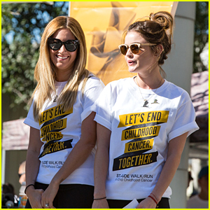 Lucy Hale & Ashley Tisdale Walk To End Childhood Cancer with St. Jude