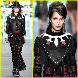 Gigi Hadid Shares the Anna Sui Runway with Younger Sis Bella