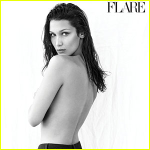Bella Hadid Covers 'Flare' October 2016