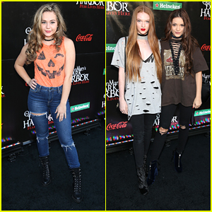 Brec Bassinger Kicks Off Halloween Season at The Queen Mary's Dark Harbor with Rio Mangini