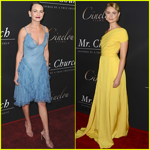 Britt Robertson & Lucy Fry Glam Up For 'Mr. Church' Premiere