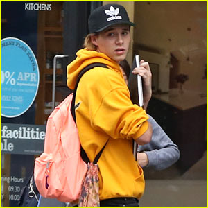Brookyln Beckham Supports Justin Bieber While Hanging Out With Friends
