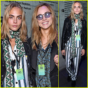 Cara Delevingne Stops By Apple Music Festival with Suki Waterhouse!