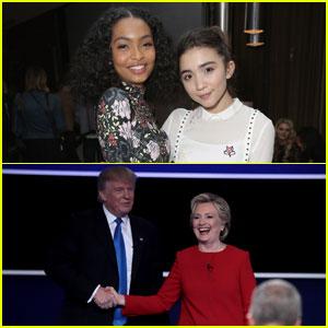 Rowan Blanchard, Yara Shahidi & More Young Stars Tweet About First Presidential Debate