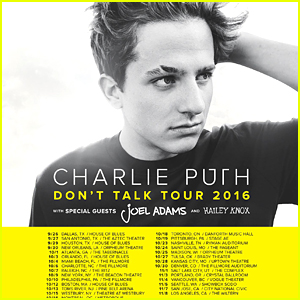 Charlie Puth To Kick Off 'Don't Talk' Tour in September