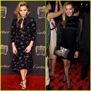 Chloe Moretz Steps Out for Cartier Reopening With Katie Cassidy