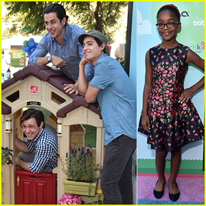 David Henrie & Bro Lorenzo Climb On Top Of a Playhouse at Step2's Safety Awareness Event