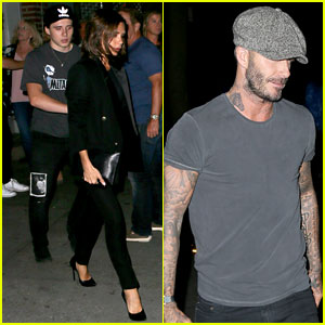 Brooklyn Beckham Hangs with Mom & Dad During Fashion Week!