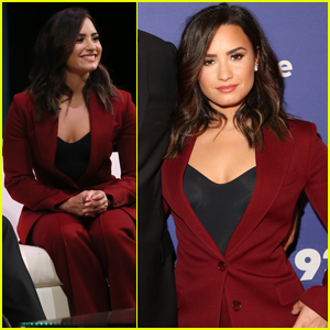Demi Lovato Takes the Stage at the Social Good Summit
