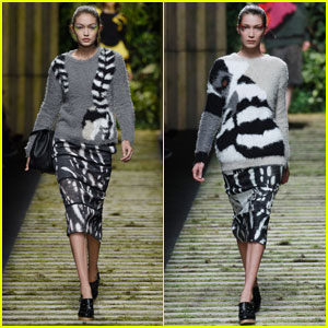 Gigi Hadid Walks Alongside Sister Bella in Milan Fashion Shows