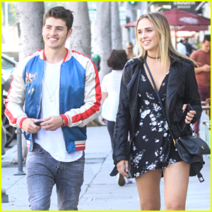 Gregg Sulkin Hangs With Model Lyzy Adler After Wrapping 'Drink Slay Love'