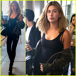 Hailey Baldwin Gets Prepped for New York Fashion Week