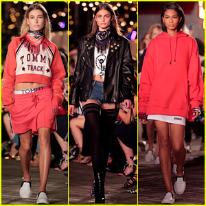 Hailey Baldwin & Chanel Iman Walk in Tommy Hilfiger's NYFW Show!