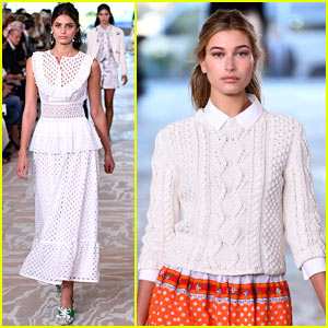 Hailey Baldwin Hits The Runway in Tory Burch's Show During NYFW!