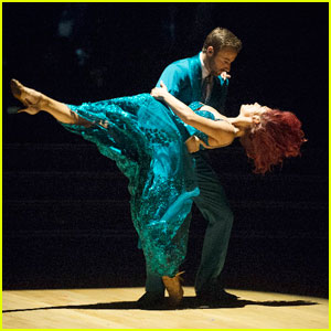 James Hinchcliffe & Sharna Burgess Impress the Judges With Foxtrot - 'DWTS' Photos!