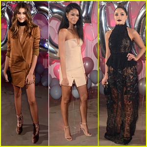 Kaia Gerber, Chanel Iman & Olivia Culpo Party It Up With Jimmy Choo During NYFW