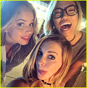 Debby Ryan & Katie Cassidy Share More Pics From 'Cover Versions' Movie Filming