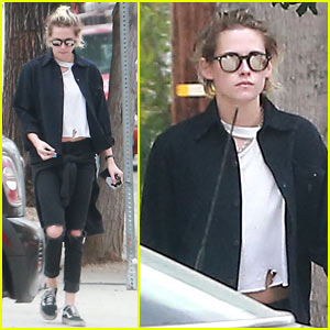 Kristen Stewart Spends Her Day Running to Meetings