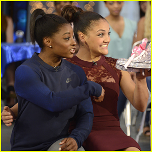Laurie Hernandez Crashes Simone Biles' Interview on 'Good Morning America'