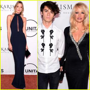 Dylan Jagger Lee Joins Mom Pamela Anderson at UNITAS Gala