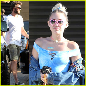 Miley Cyrus & Liam Hemsworth Step Out for a Lunch Date on Labor Day!