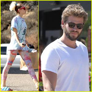 Miley Cyrus & Liam Hemsworth Kick Off Their Week With a Day Trip to Malibu